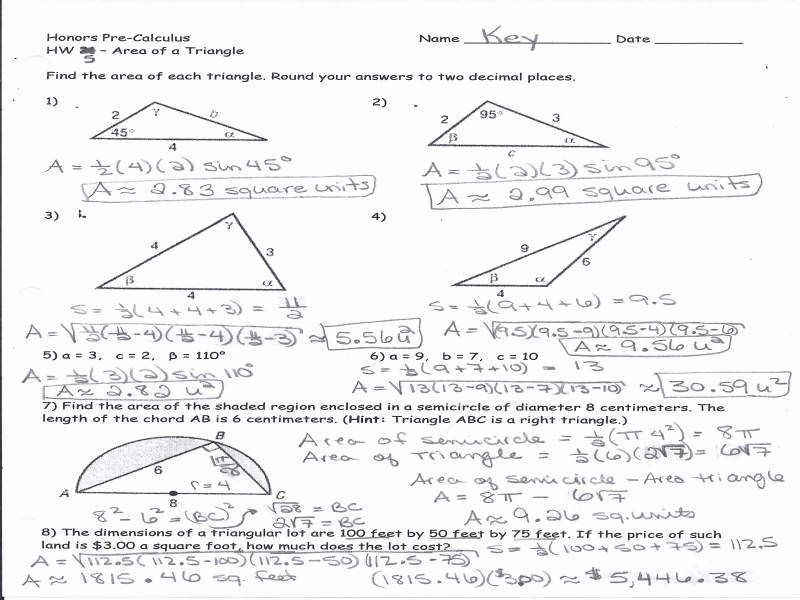 50 Right Triangle Trigonometry Worksheet Answers in 2020