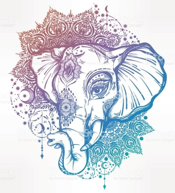 Diseños de Elefantes hindúes en mandalas: Significado y ...