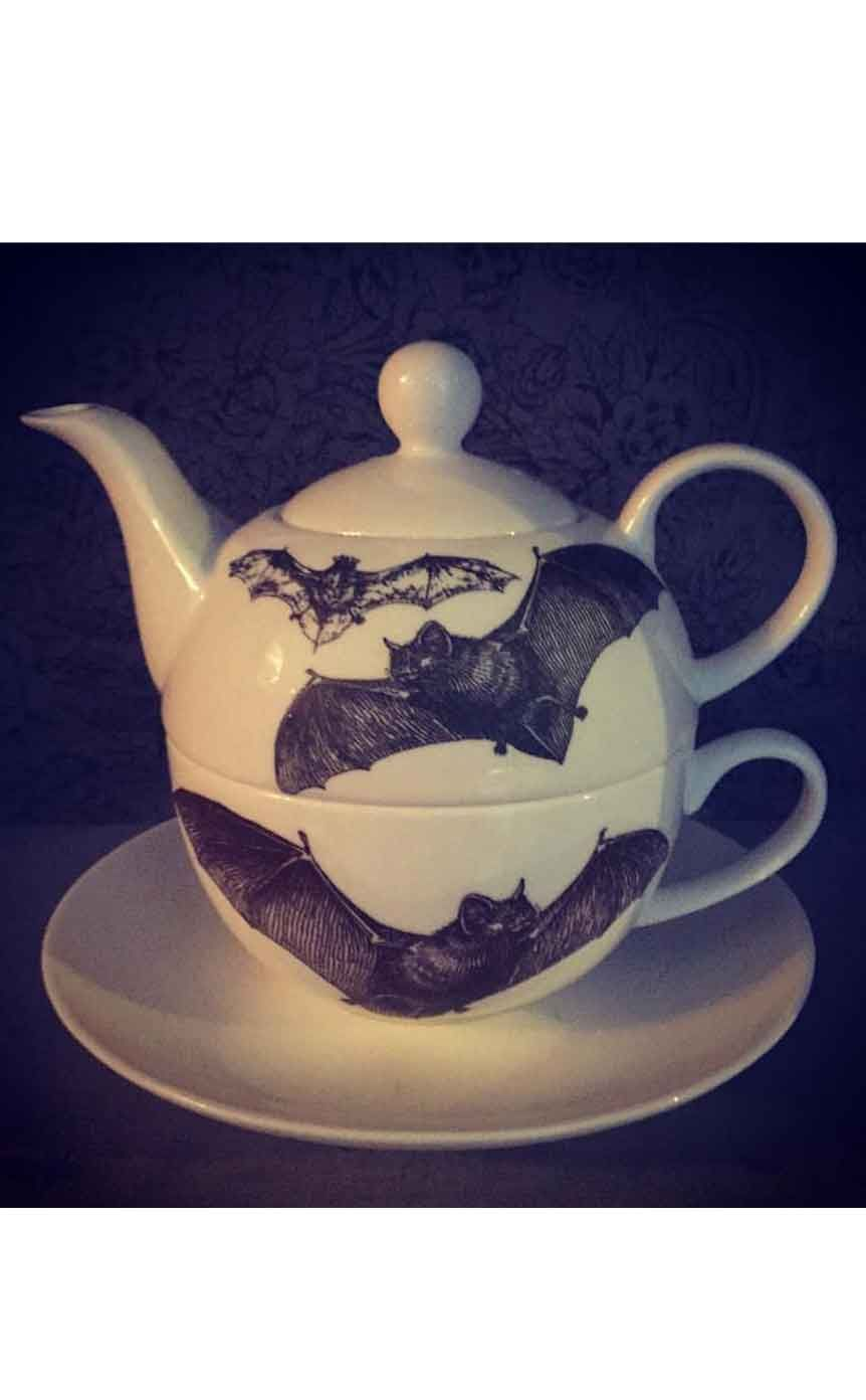 Charlotte Clark Tea For One Bat Set Another Stunning Hand Finished Piece Of Gothic Homeware From Designs This Adorable