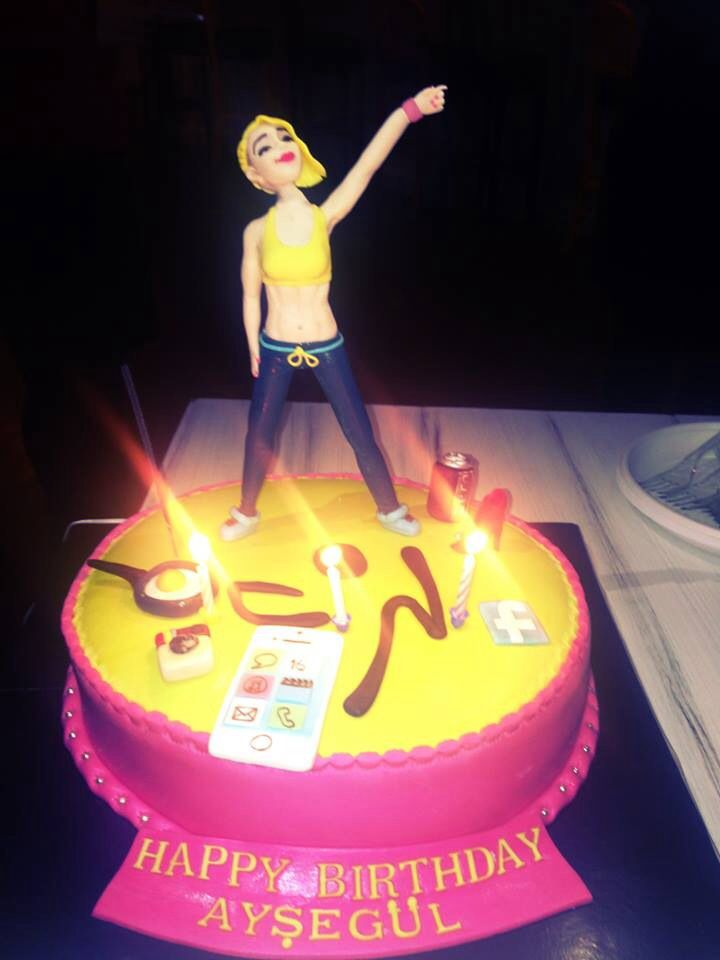 Amazing Birthday Cake Made For Zumba Instructor Asegul Demersoy From