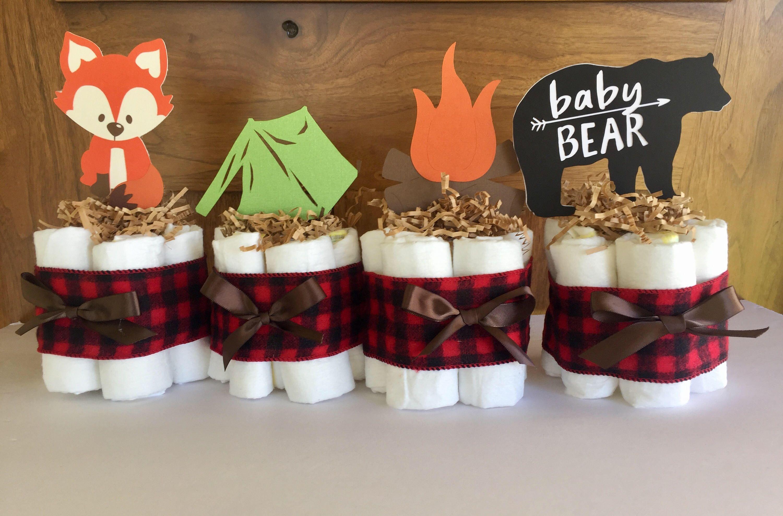Lumberjack Baby Shower Diaper Cake Camping Baby Shower Theme Decor Woodland Diaper Cake Lumberjack Buffalo Plaid Baby Shower Decorations In 2020 Baby Shower Snacks Camping Baby Showers Camping With A Baby