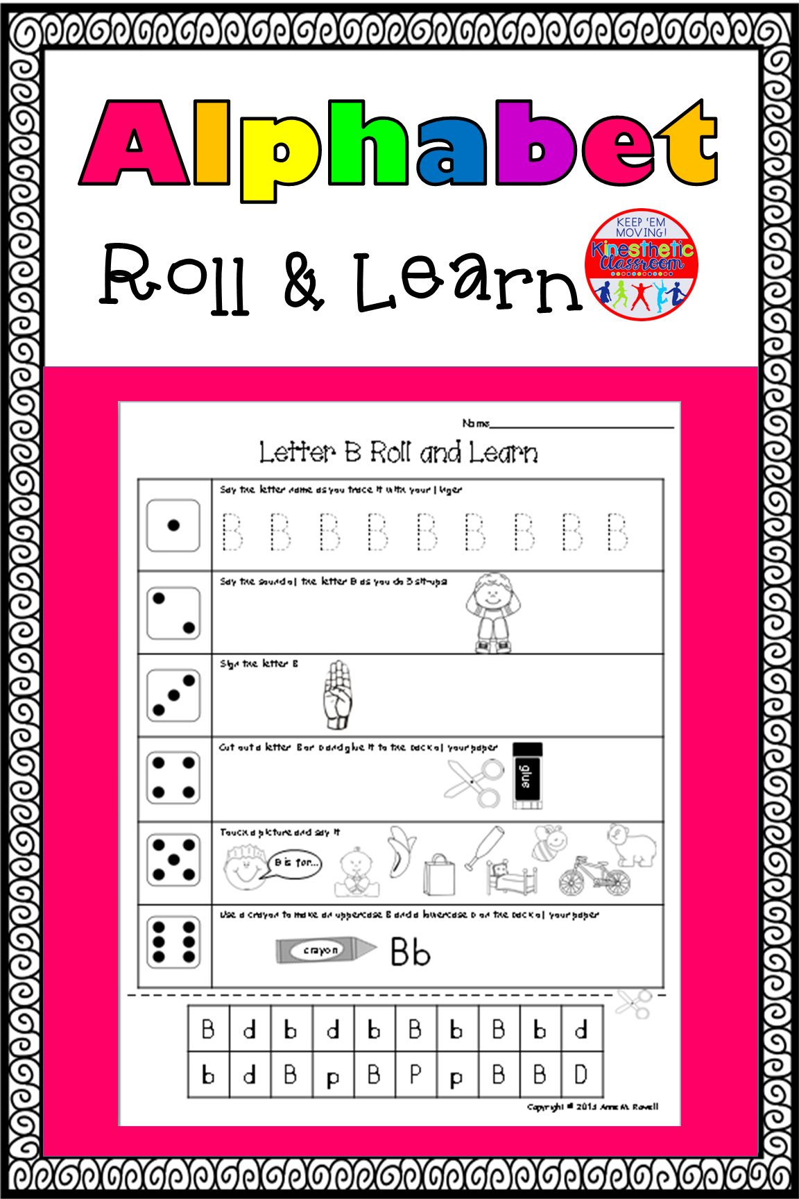Alphabet Activity Roll and Learn Letter Sounds Learning