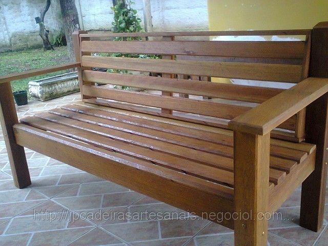 banco de madeira para jardim - Pesquisa Google SOFA DE ...