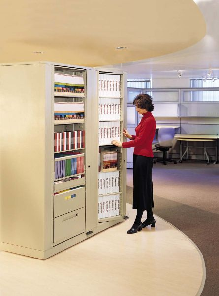 Rotary Storage Cabinets For Binder And File Office In A Unit That Can Be Locked Security When Not Use