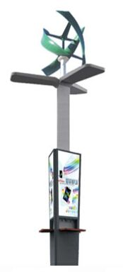 Mobile Phone Charging Station Solar Wind Charging Kiosk Outdoor