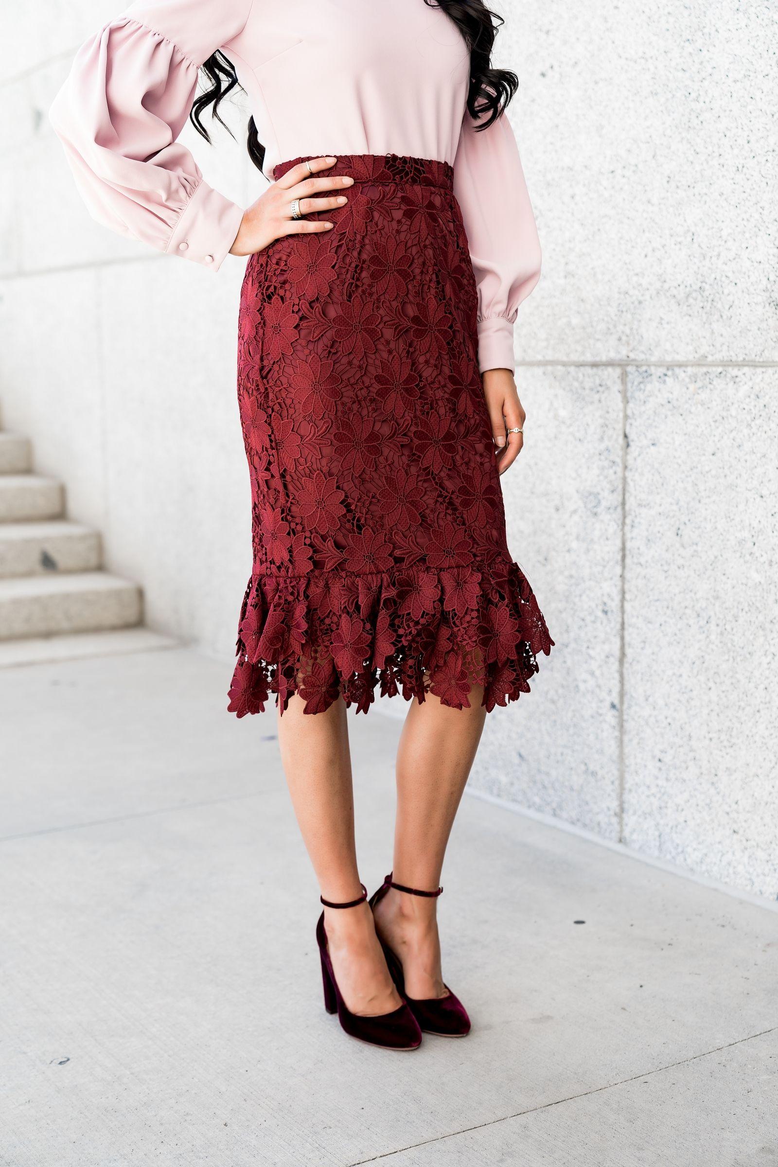a78fab082b2f Midtown Skirt in Bourdeau