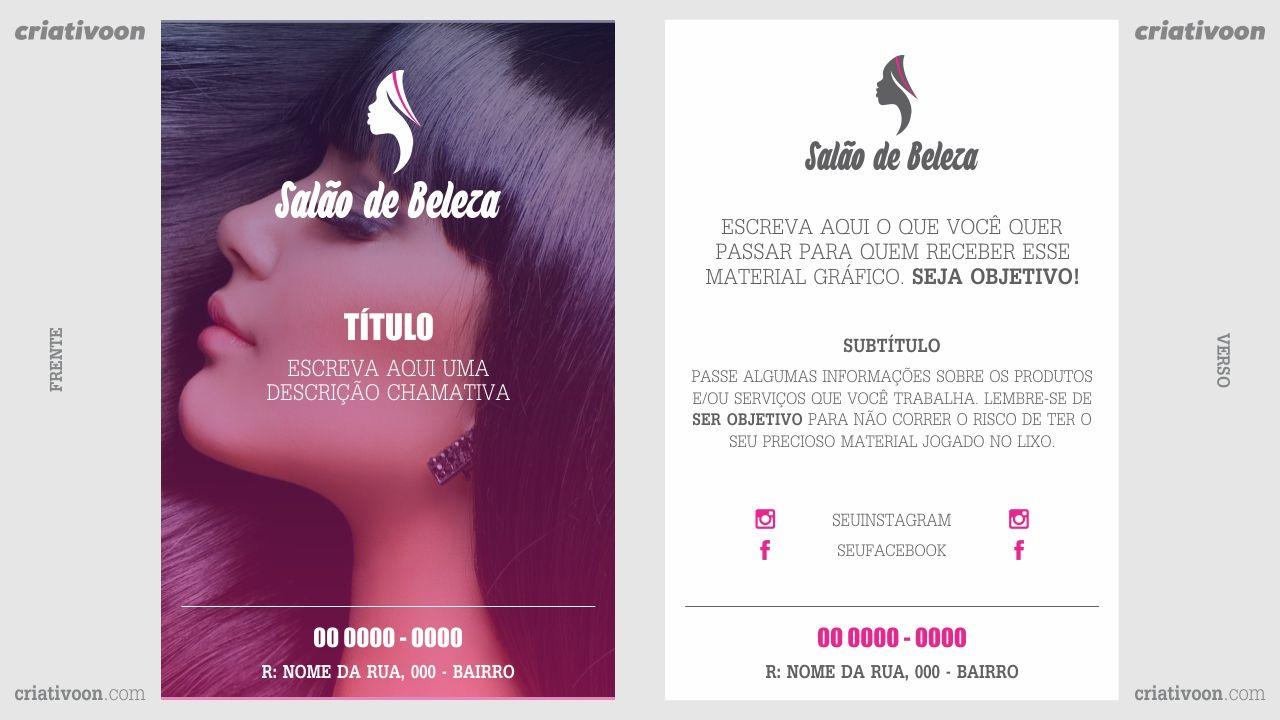 Favoritos Flyer e panfleto salão de beleza | panfletos comerciais | Pinterest SL77
