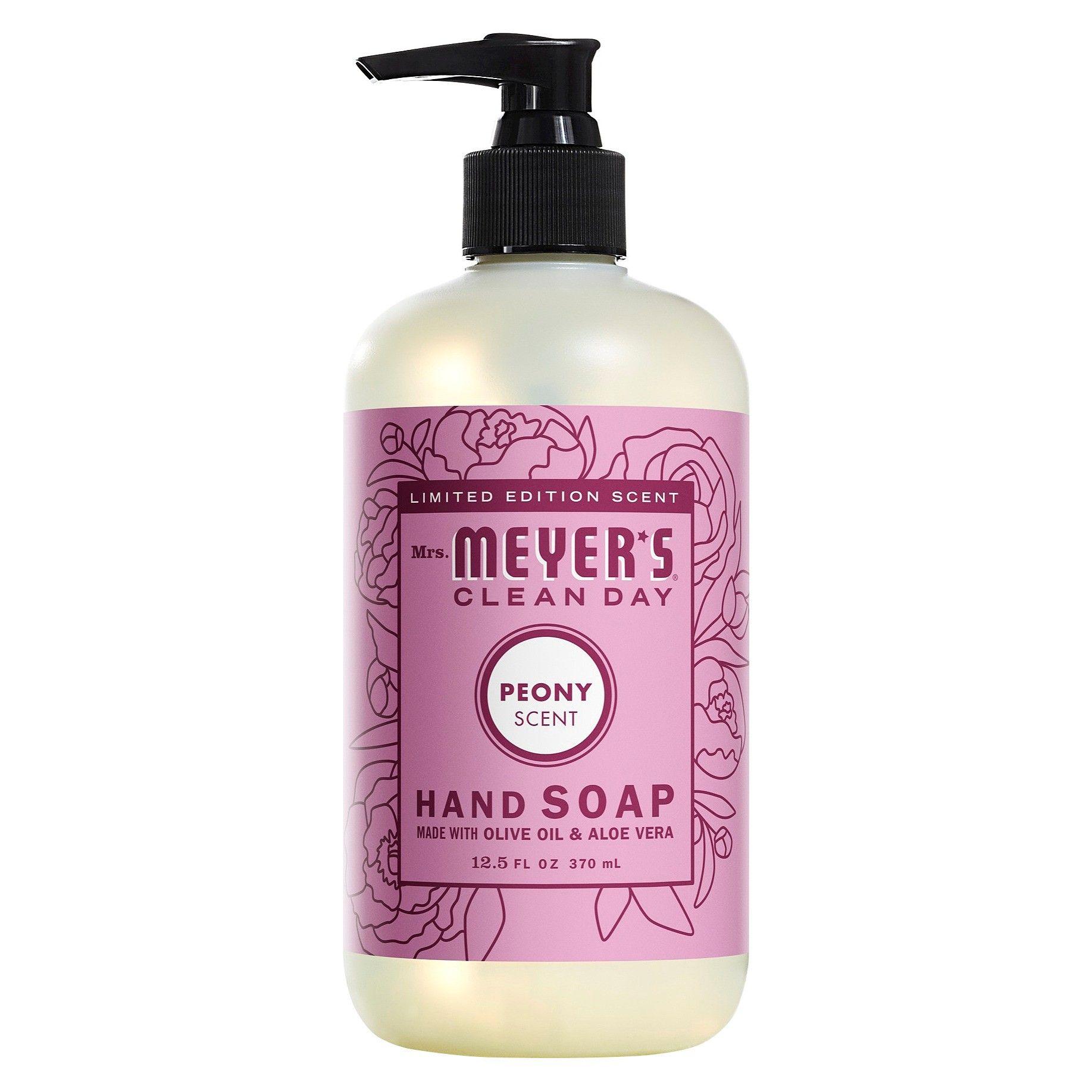 Mrs Meyer S Peony Scented Liquid Hand Soap 12 5 Fl Oz Liquid Hand Soap Peony Scent Lilac Scent