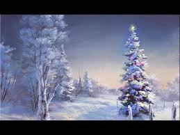 dogs christmas tree snow mountain painting – Google Search