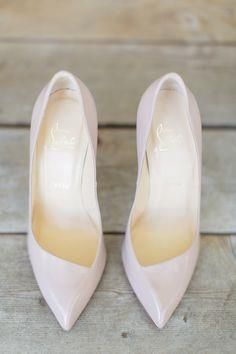 pretty blush pink pumps