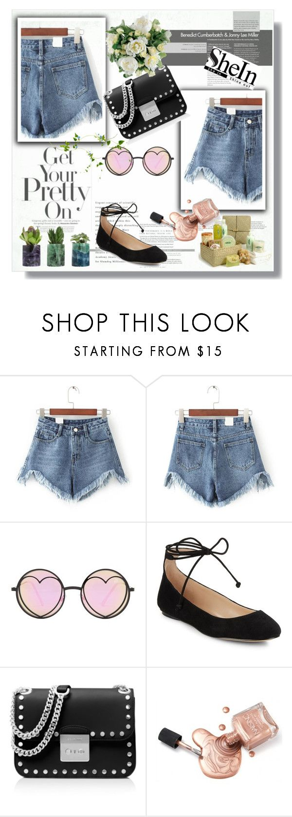 """shein"" by perfex ❤ liked on Polyvore featuring Betsey Johnson, Karl Lagerfeld, MICHAEL Michael Kors, Guide London and CO"