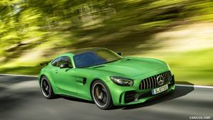 2017 Mercedes-AMG GT R at the Nurburgring (Color: Green Hell Magno) - Front Three-Quarter - Picture # 50
