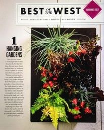 Voted #1 Best in the West by Sunset Magazine!! Our Vertical Garden Kits are different because of the growing medium. They are easy to plant and maintain!! www.plantasy.us