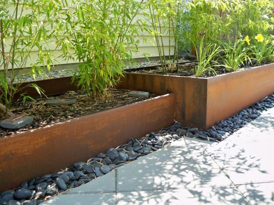 Rusted Steel Planters Custom Ordered Galvanized Troughs Are Much