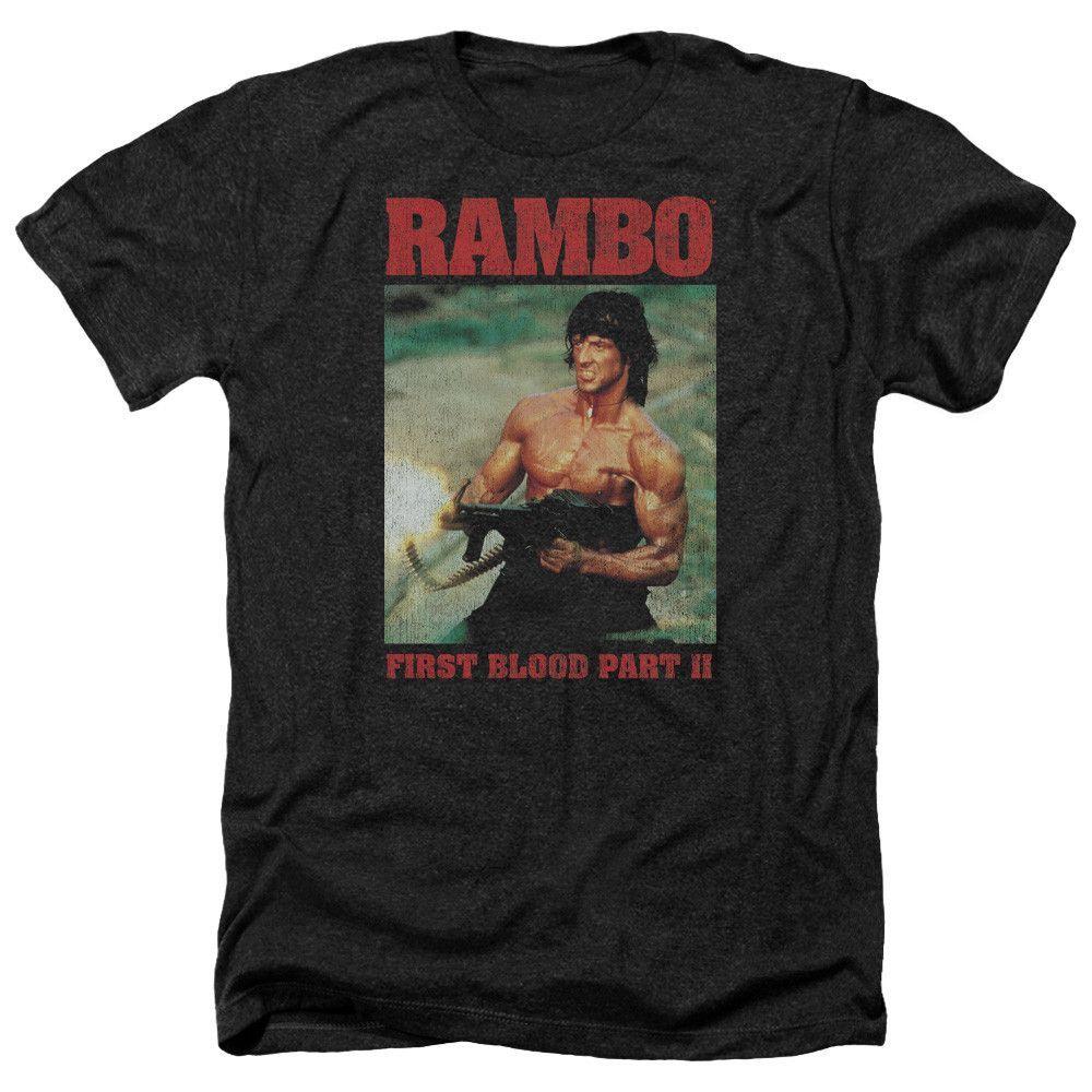 Rambo: Dropping Shells Heather T-Shirt