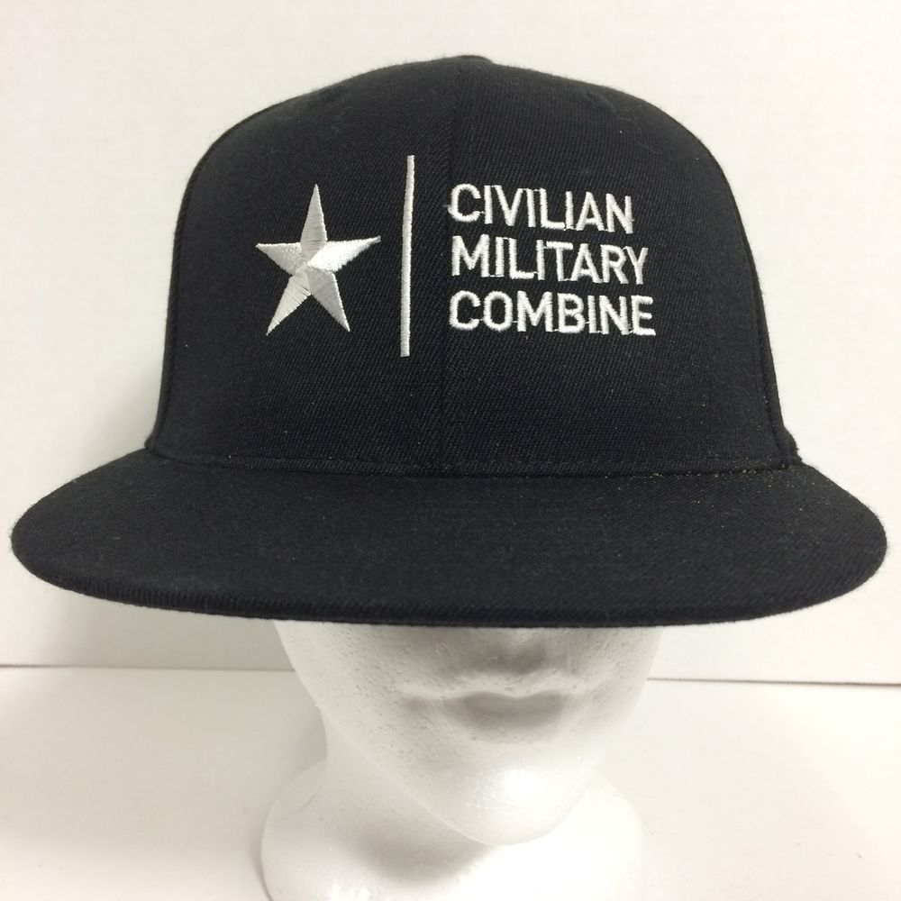 Black CIVILIAN MILITARY COMBINE Ball Cap Hat 210 Fitted by FlexFit 6 7 8 -  7 1 4  Oakley  BallCap f4b49a6b4ed