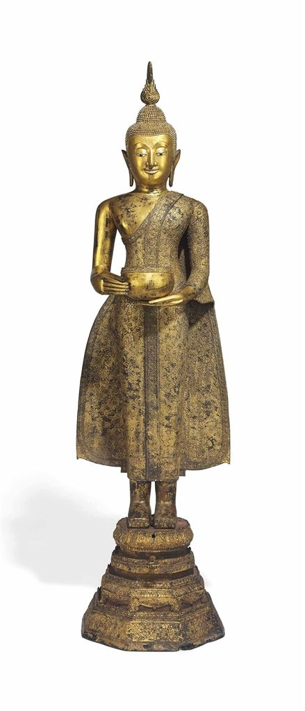 AN GILT BRONZE FIGURE OF BUDDHA - THAILAND, AYUTTHAYA STYLE, 18TH/19TH CENTURY. | Christie's
