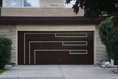 Add Details To A Blank Door Garage Door Design Contemporary