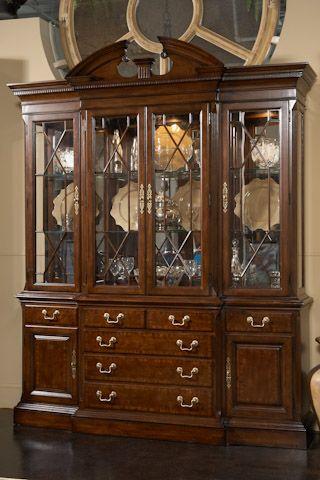Fine Furniture American Cherry China Cabinet Fine