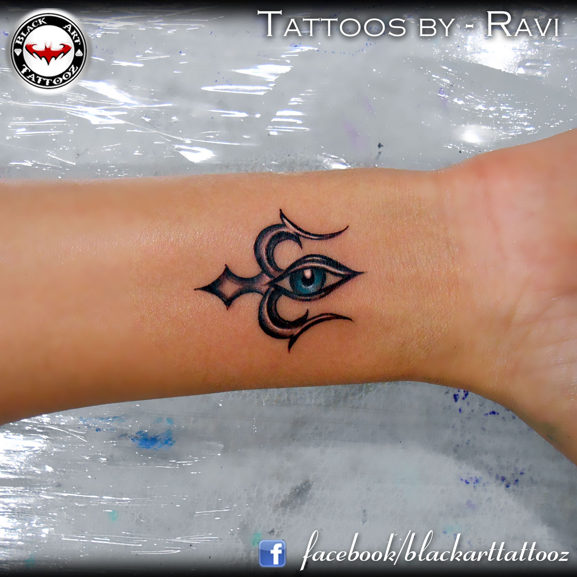 """""""Trishul with an eye """" another custom designed for Hiral"""