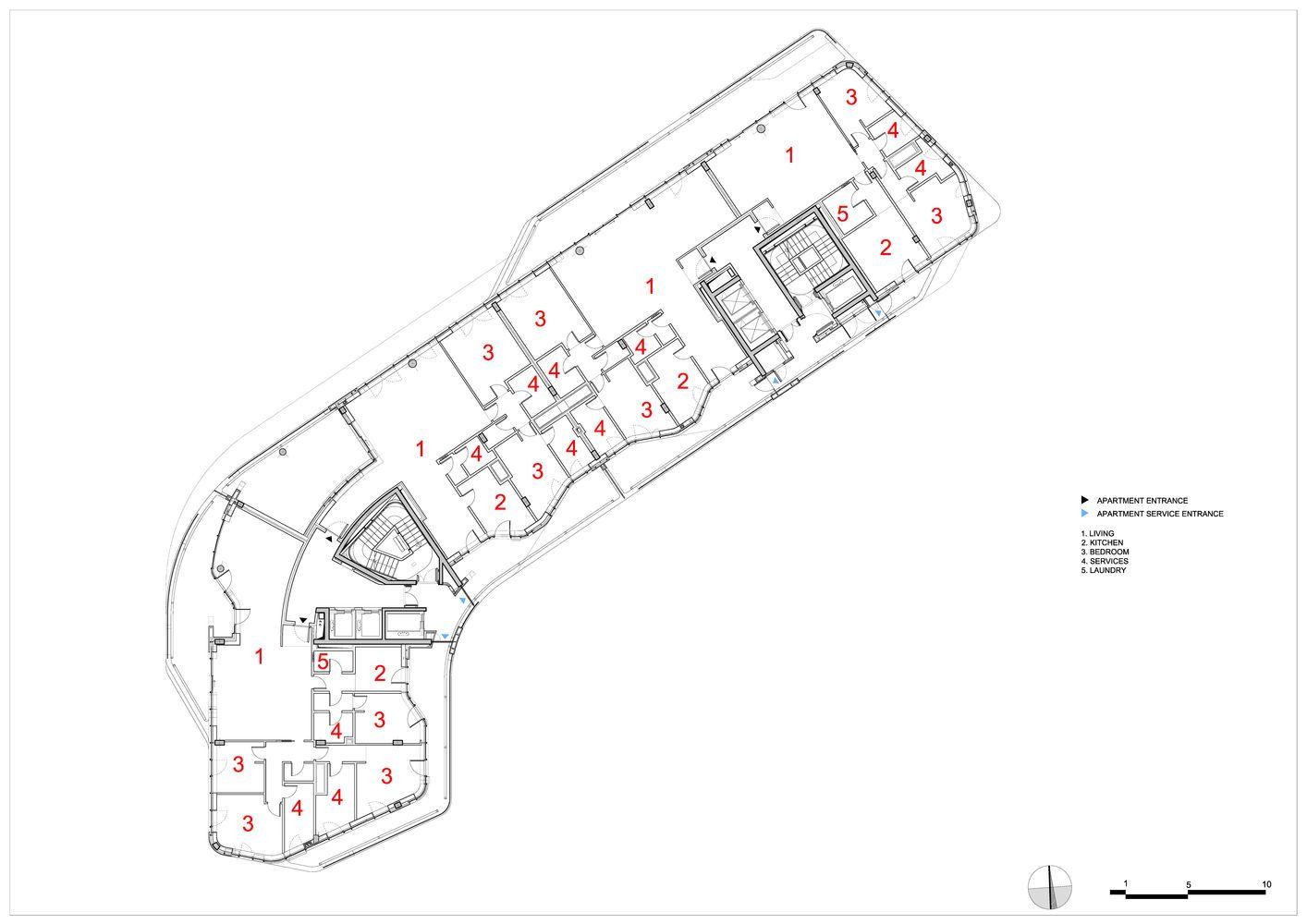 Gallery of Citylife Apartments / Zaha Hadid Architects - 17 ...