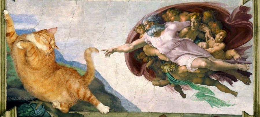 Pimenta no teu...é refresco!: Artista recria obras clássicas usando fotos de seu gato gordo