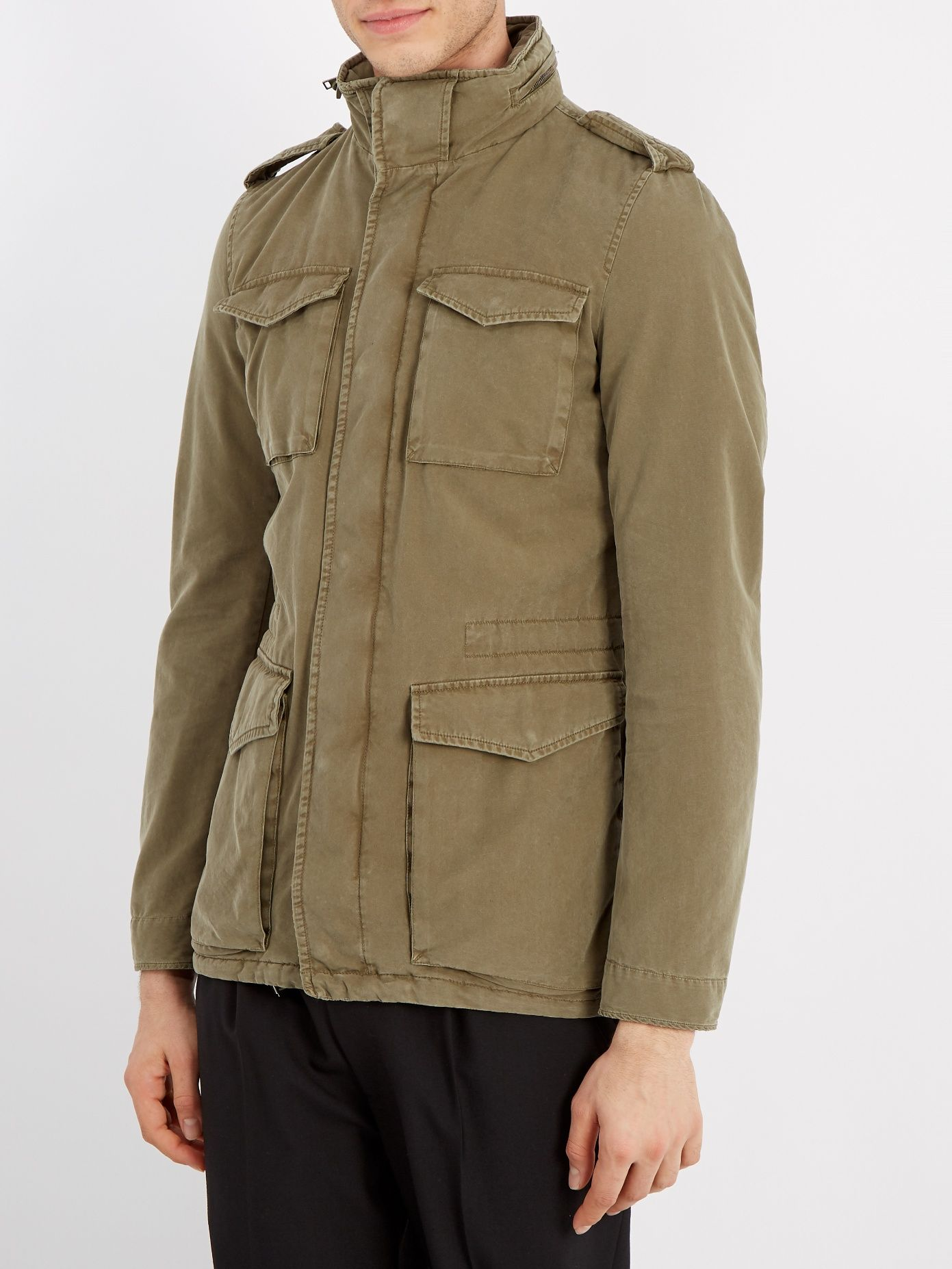Herno Self-stowing hood cotton-blend field jacket at MATCHESFASHION ... 01750152b46