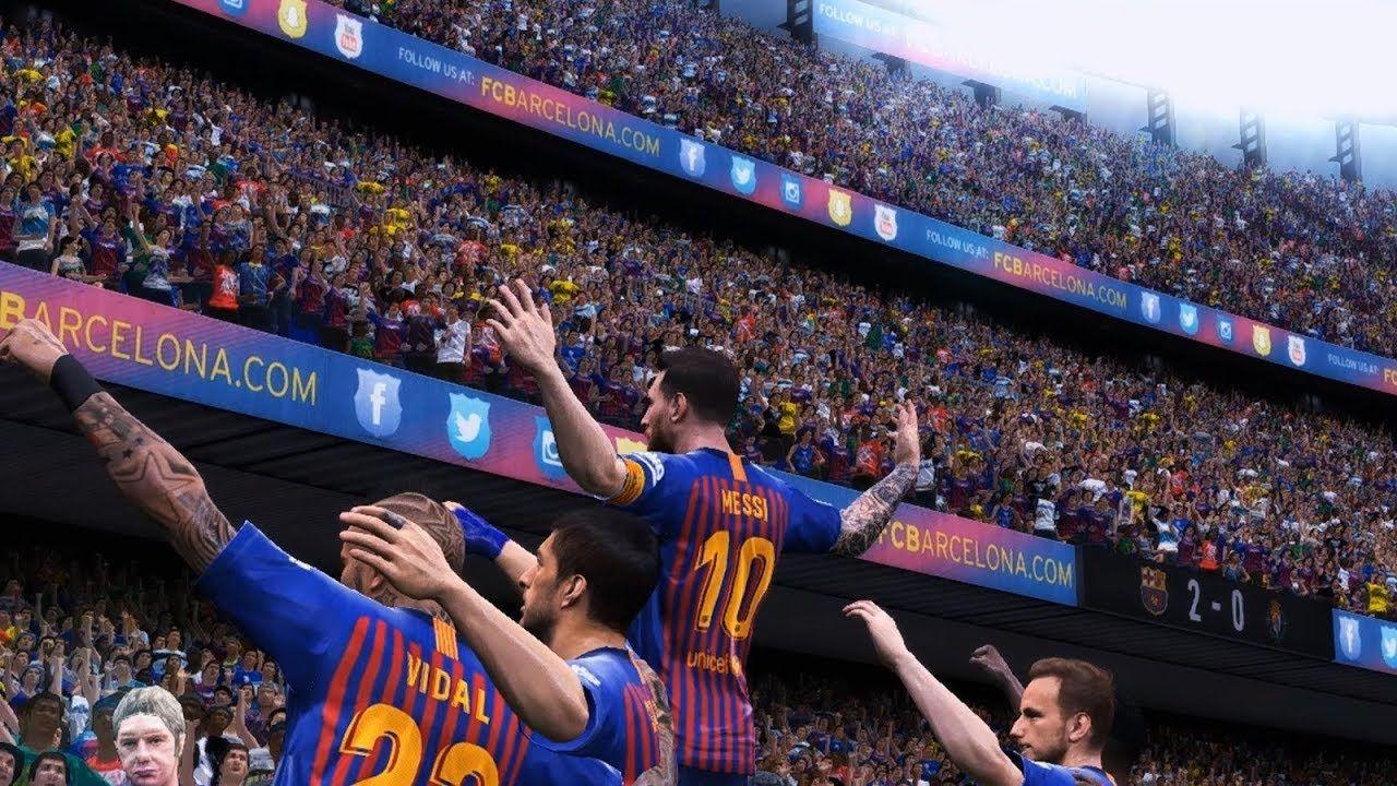 Messi Hattrick Barcelona Vs Valladolid La Liga Pes 2019 Converted La Liga Messi Barcelona