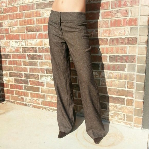 Brown slacks 86% polyester, 12% rayon, 2% spandex. Like new. Curvy fit Apt. 9 Pants