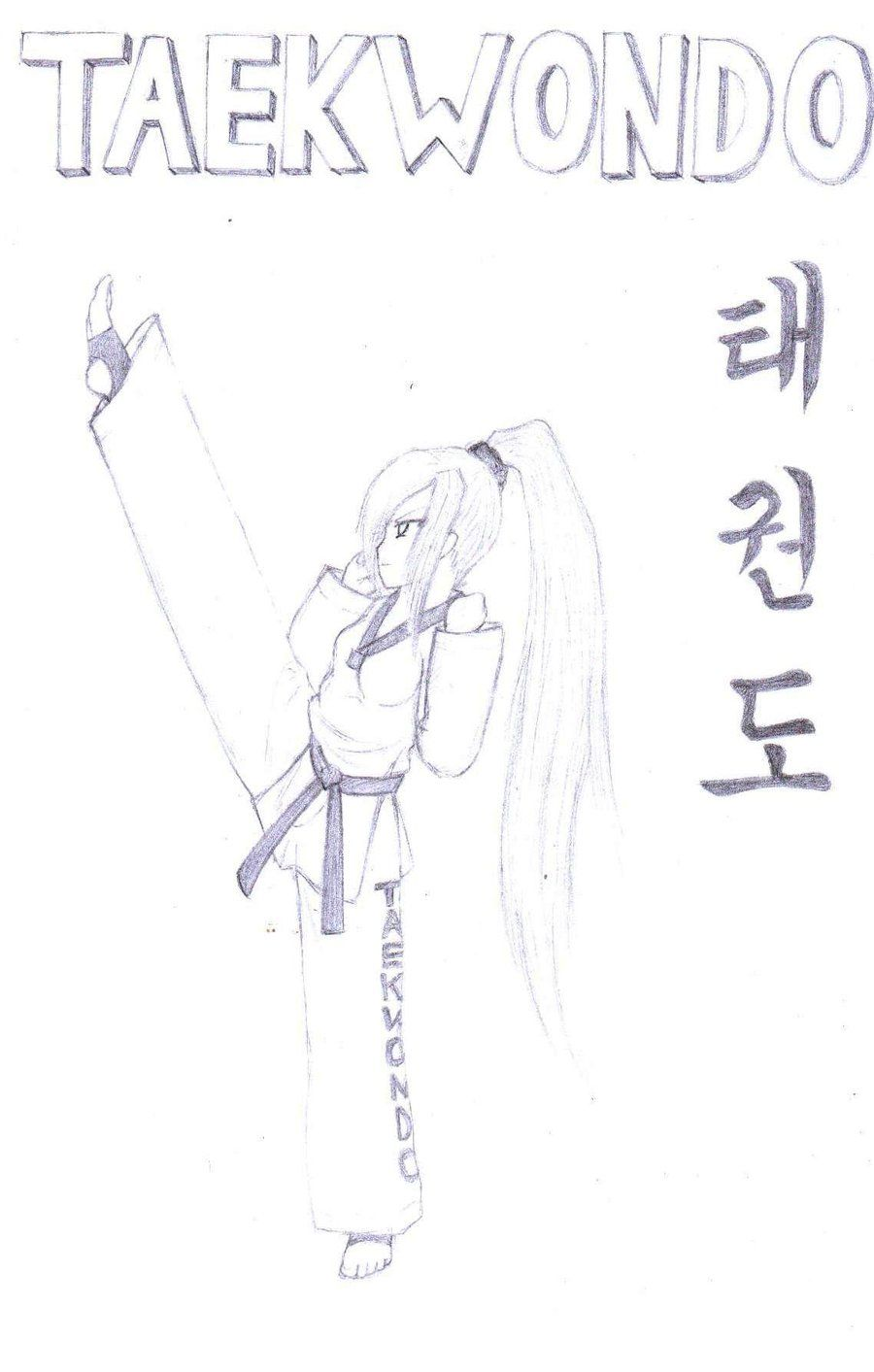Nice drawing of taekwondo girl | TKD | Pinterest | Taekwondo girl ...