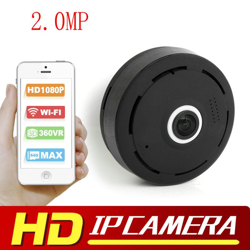 2 0MP HD 1080P VR Wifi Camera Fisheye 360 Degree