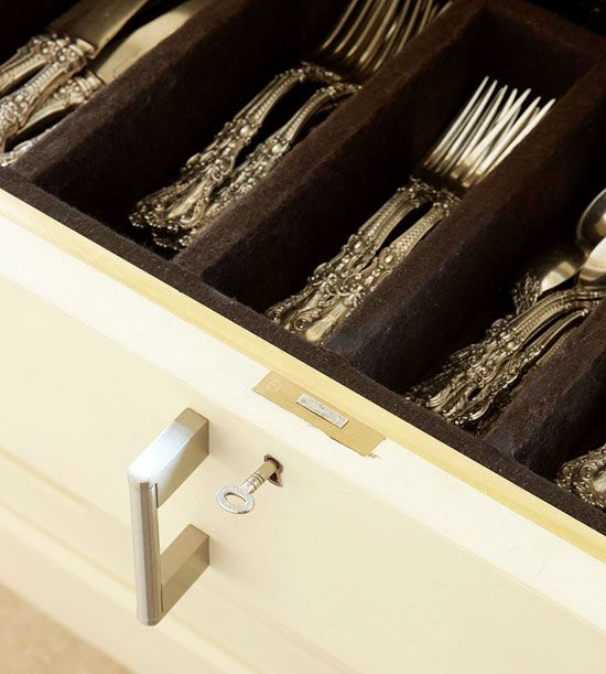 Creative Ways To Store Dishes Silver Storage Kitchen Organization Pantry Silverware Storage