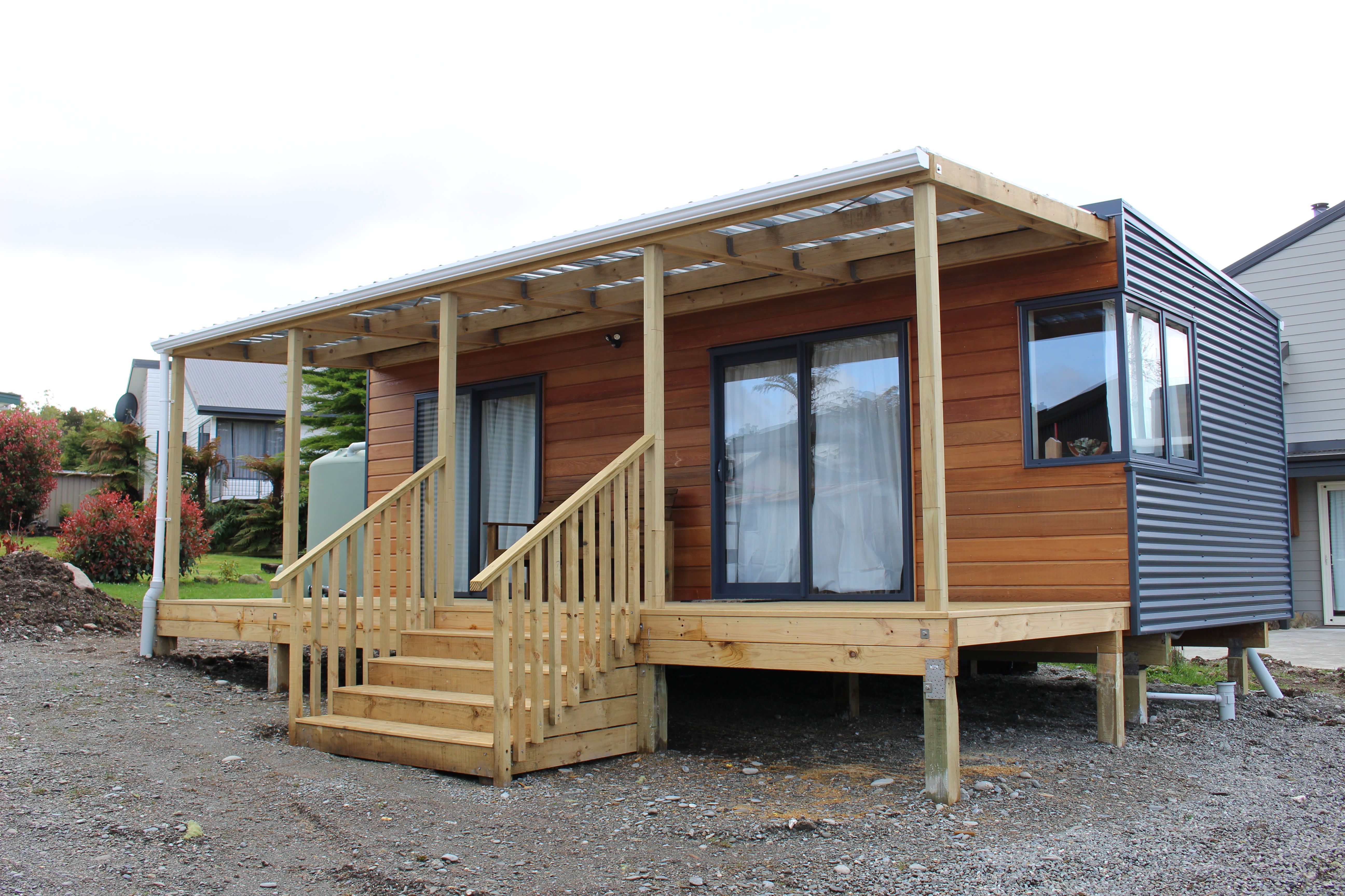Veranda which gives the feel of more space. | shipping container homes | Pinterest | Verandas ...
