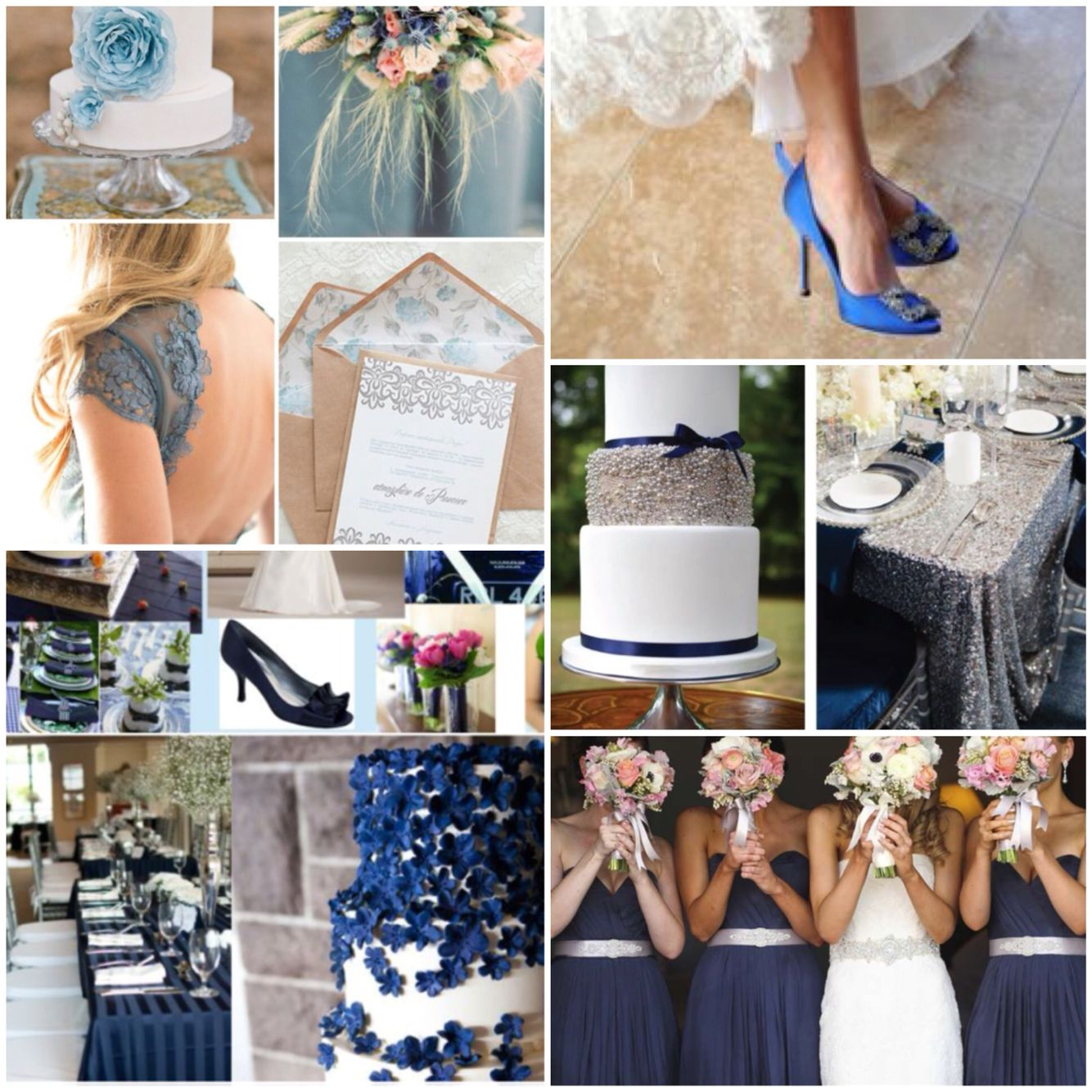 Blue wedding theme! #wedding #bluewedding #weddingtheme #weddingideas #bride #somethingblue #manolos #weddingshoes #tabledecor #weddingtable #groom #brideandgroom #bridesmaids #dresses #shoes