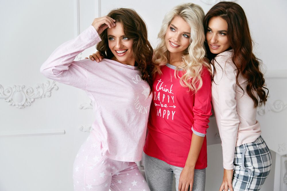 7a80c1d086 Everyone loves a pajama party. Let your hair down with friends