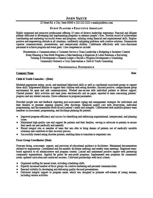 Event Planner Resume Template Premium Resume Samples  Example - Skills For Resume Example
