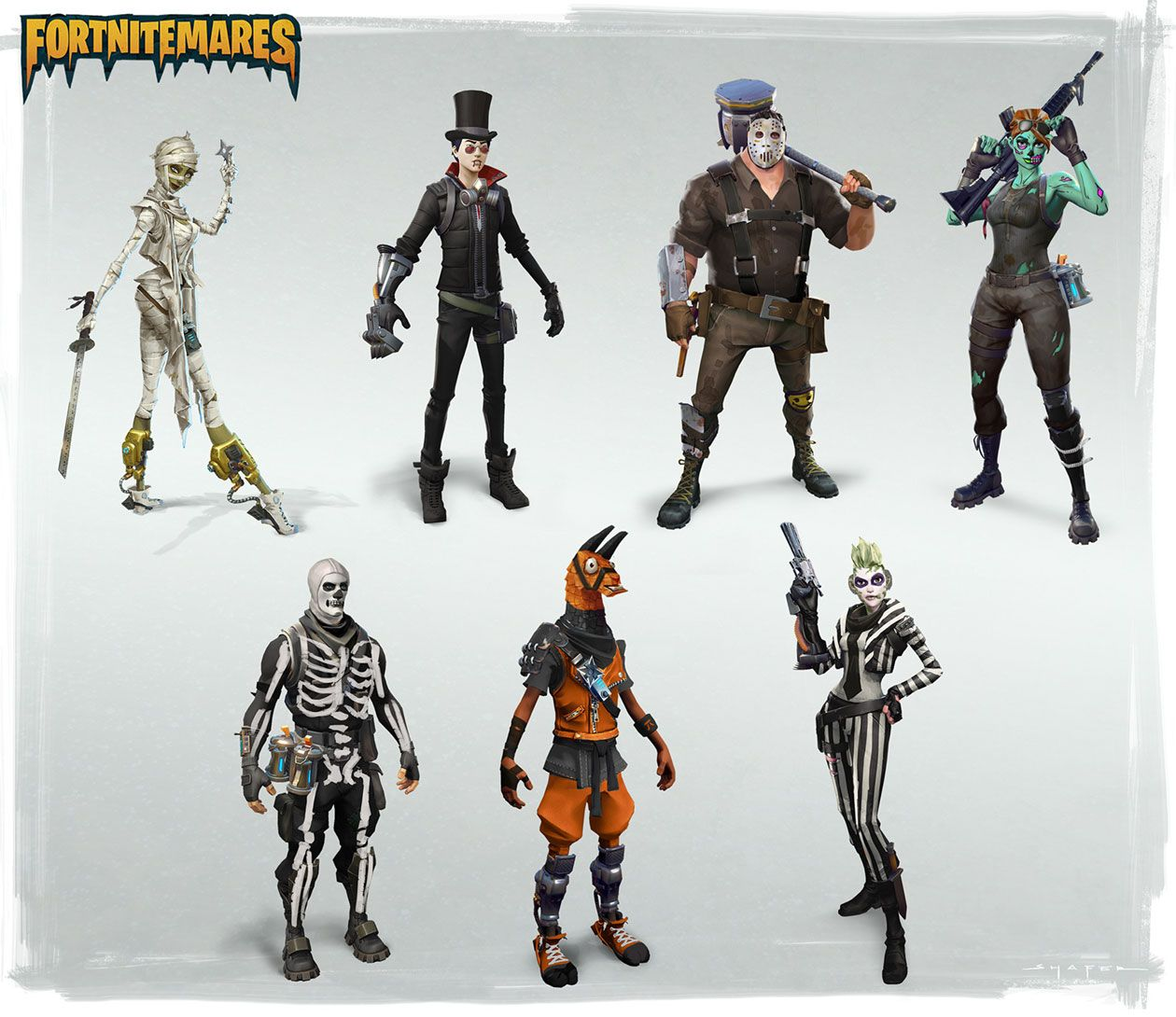 Halloween Skins From Fortnite Art Action Figures Epic