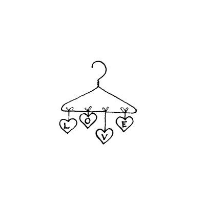 LOVE hearts on a hanger - stamp by Penny Black, Inc.