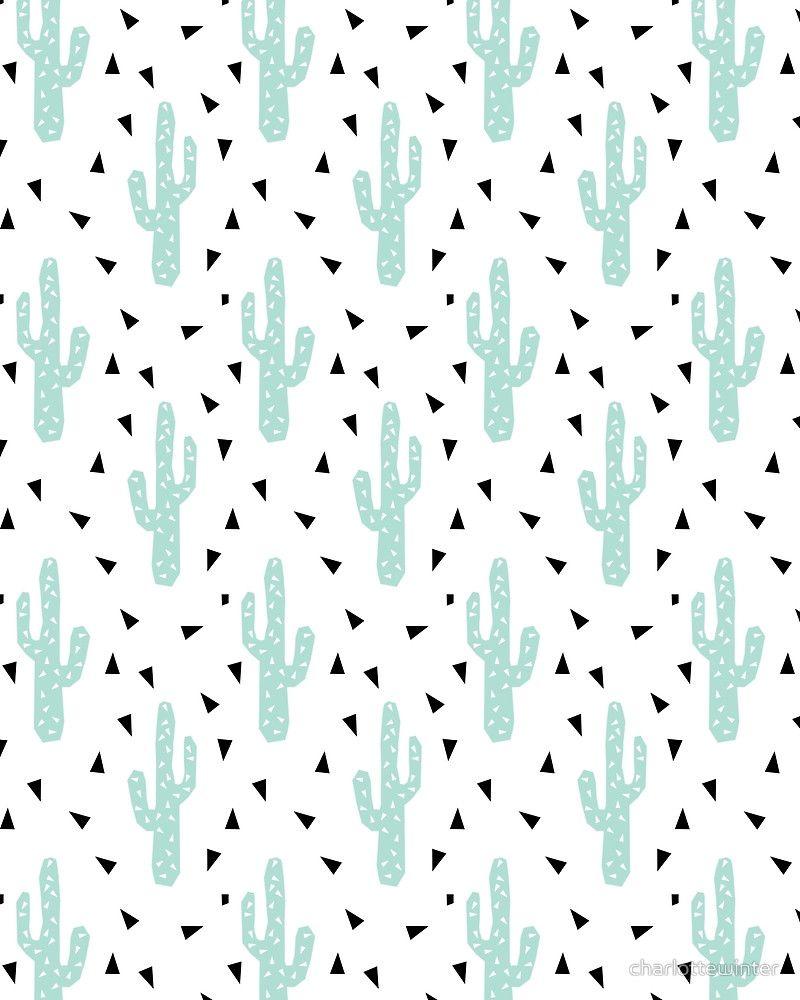Cactus - modern minimal pattern charlottewinter