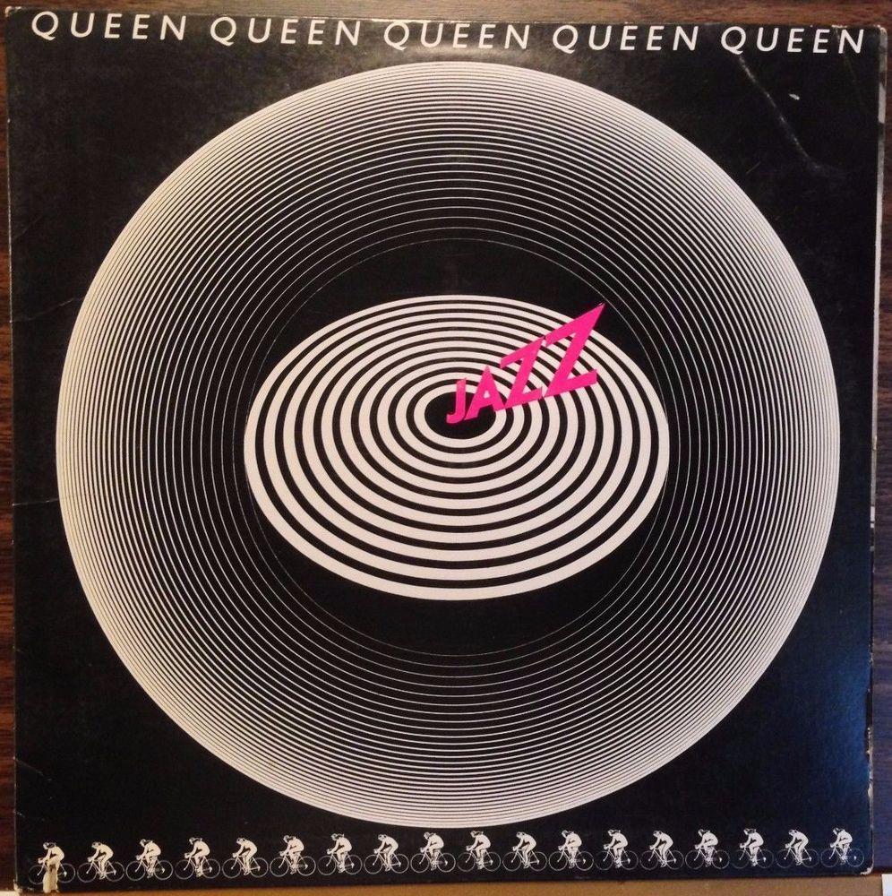 on sale today queen jazz poster lyric sleeve freddie mercury rare vinyl lp record. Black Bedroom Furniture Sets. Home Design Ideas