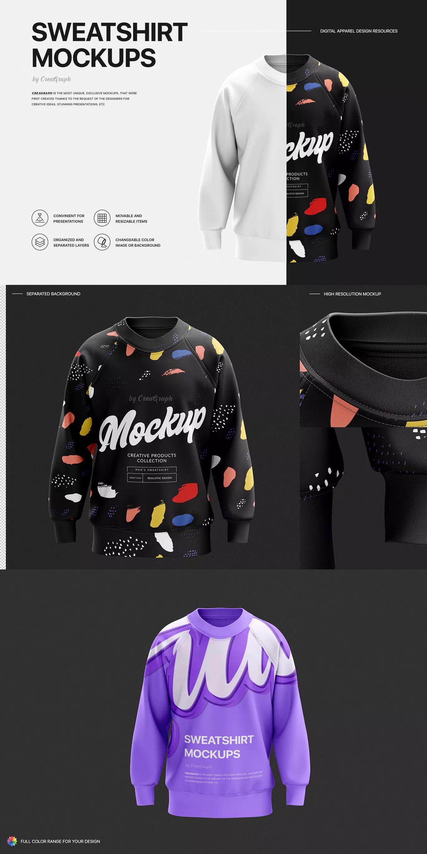 Download Sweatshirt Mockup Mockup Sweatshirts Envato
