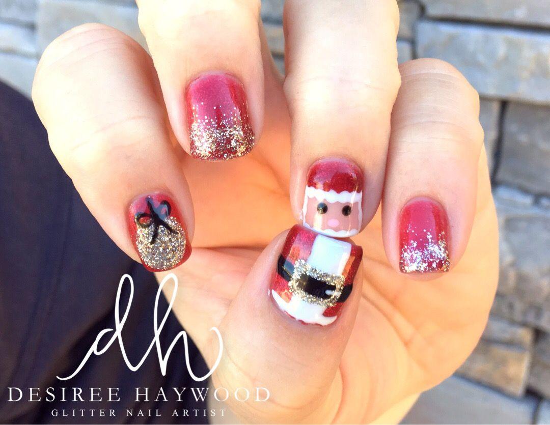 The christmas nail ornament - Glitternailartist Opi Gelcolor Manicure Hand Painted Nail Art Nail Art Ideas