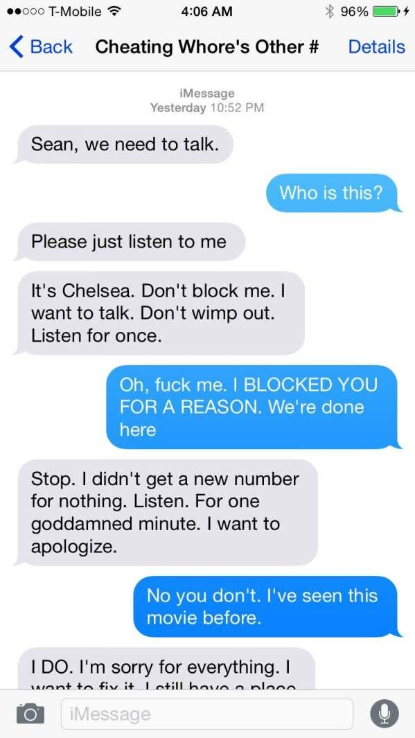 Crazy ExGf Sends Harassing Texts But Dude Shuts Her Down Quick