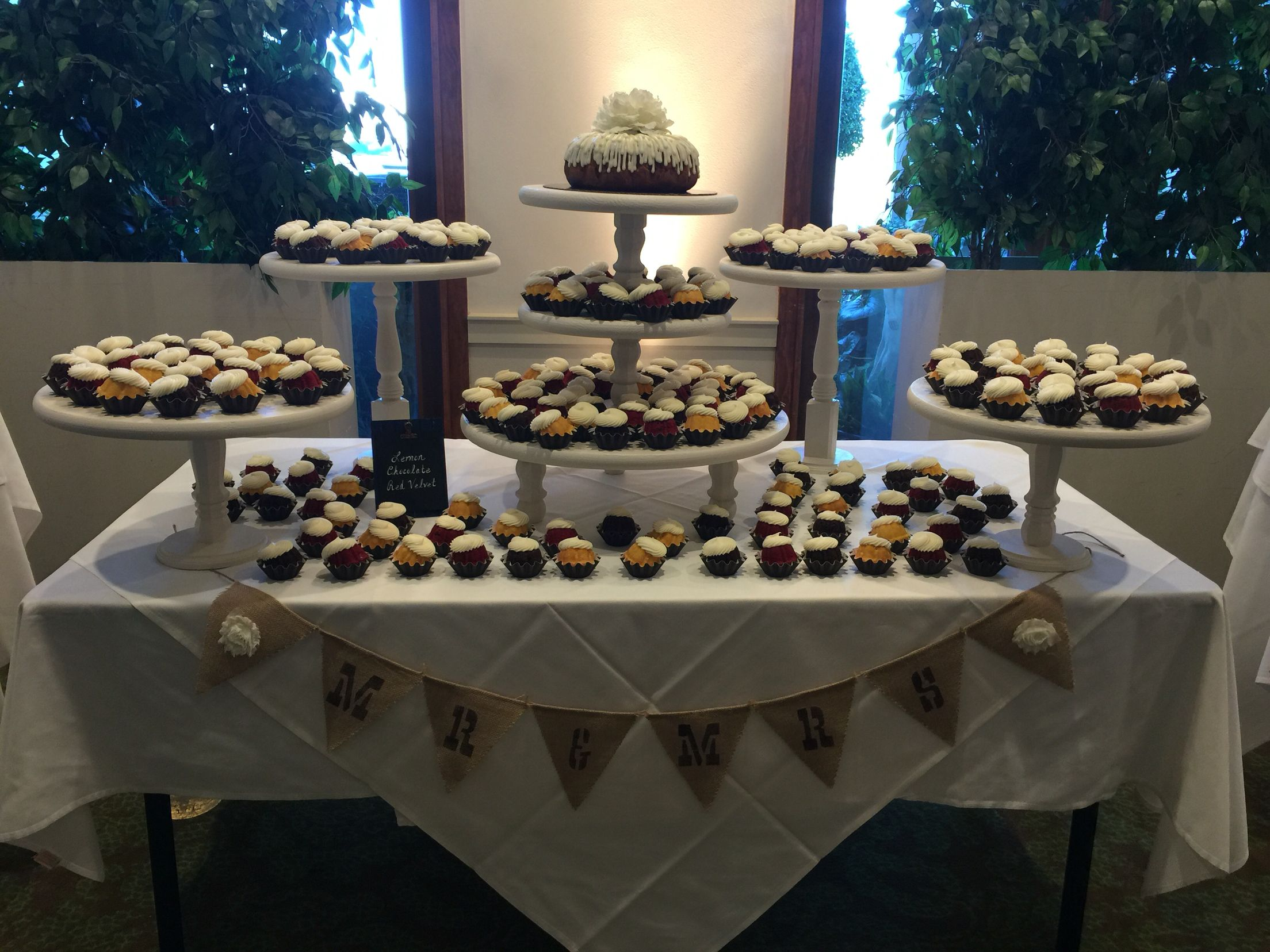 Our wedding project for daughter\'s wedding! Nothing bundt cakes ...