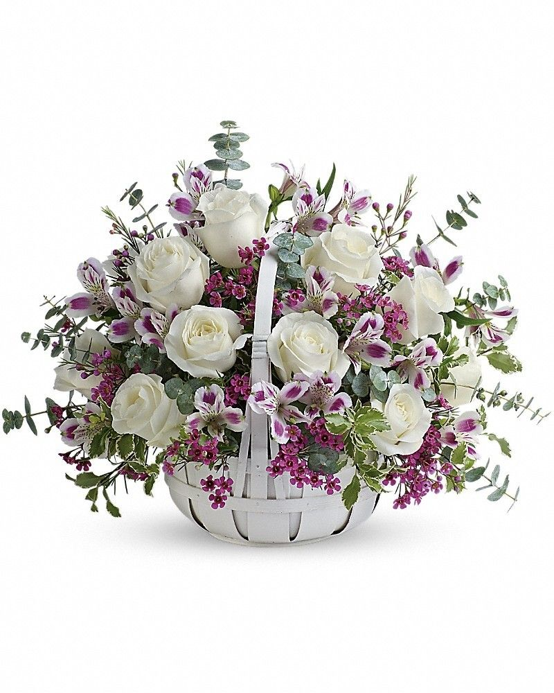 Sweet Moments (With images) Basket flower arrangements