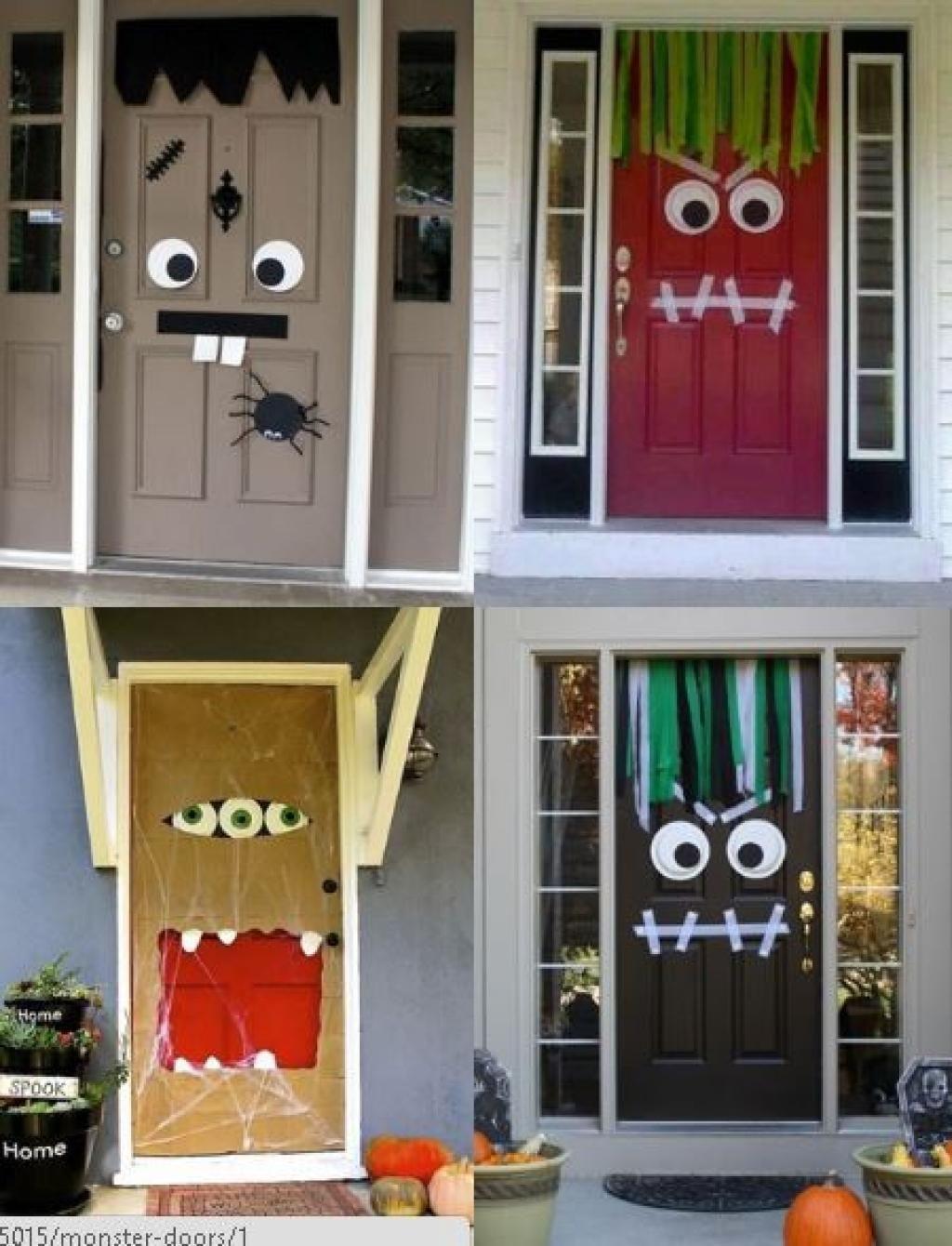 Bricolages d\u0027automne à faire avec vos petits monstres ) DIY - halloween front door decor
