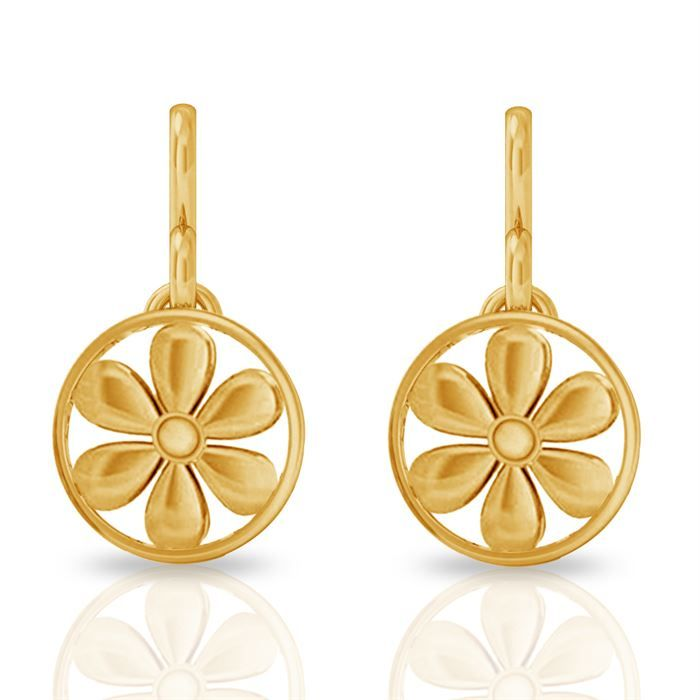 Buy Circled Floral Gold Earring Circled Floral Gold Earring price ...