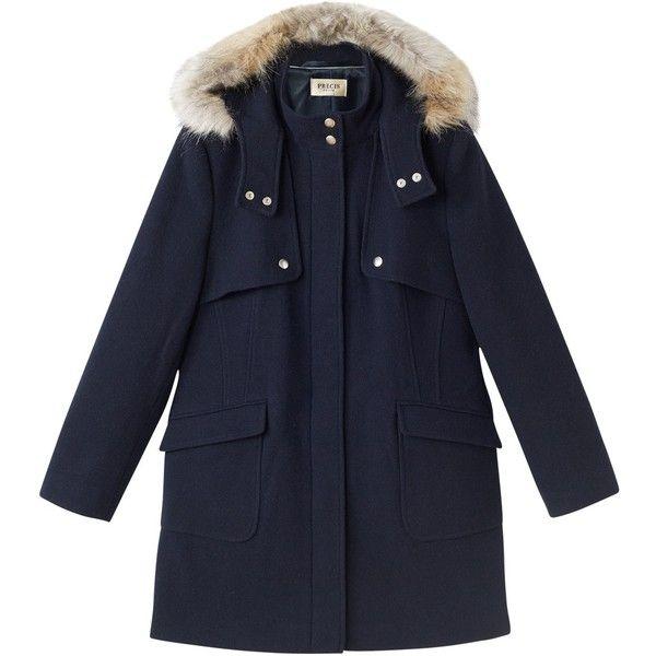 Precis Petite Aubrey Faux Fur Hood Duffle Coat, Navy ($120 ...