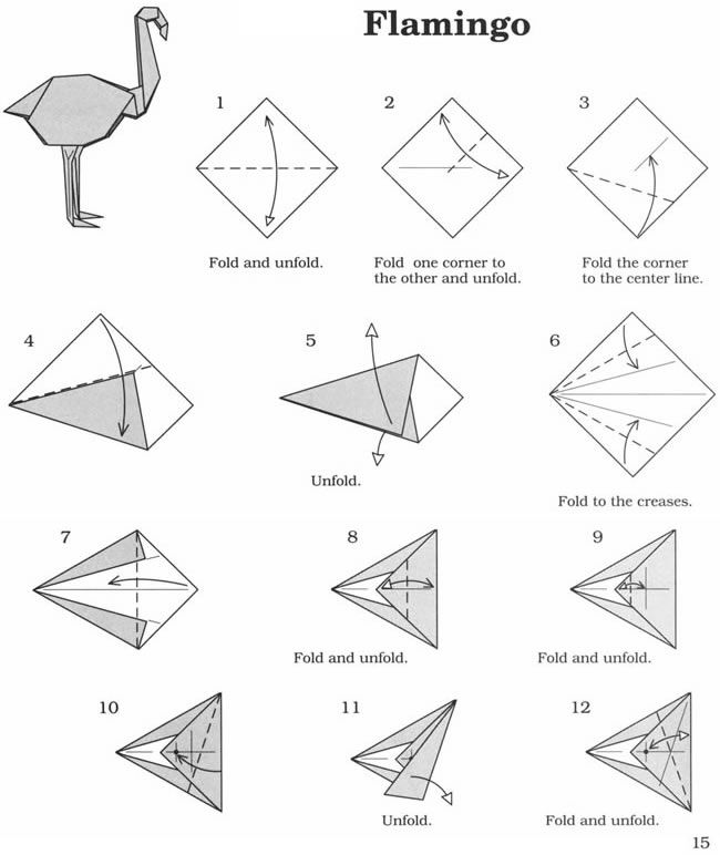 How to Fold an Easy Origami Pigeon - With Diagrams | 772x650