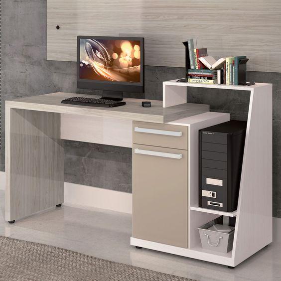 Escrivaninha para computador s971 aspen carvalle for Muebles para computador